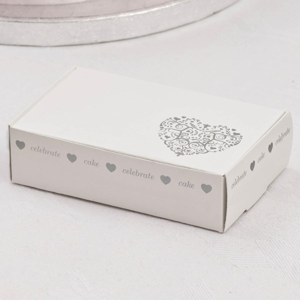 Picture of Vintage Romance - Cake Box - White/Silver