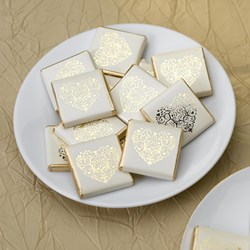 Picture of Vintage Romance Chocolates - Ivory/Gold
