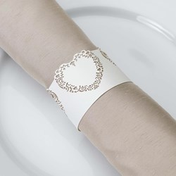 Picture of Vintage Romance Napkin Rings in Ivory/Gold