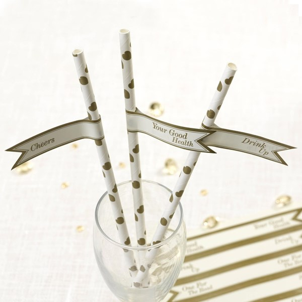 Picture of Vintage Romance - Straw Flags - Ivory/Gold