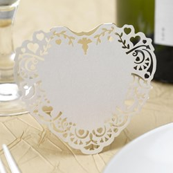 Picture of Vintage Romance - Free Standing Place Card - Ivory