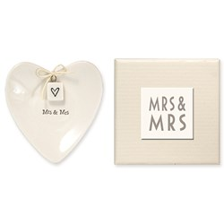 Picture of East of India Heart Shaped Ring Dish - Mrs & Mrs