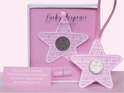 Picture of Lucky Sixpence Pink Star