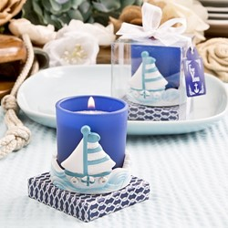 Picture of Sail Boat Votive Candle Holder