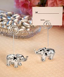 Picture of Silver Finish Elephant Place Card Holders