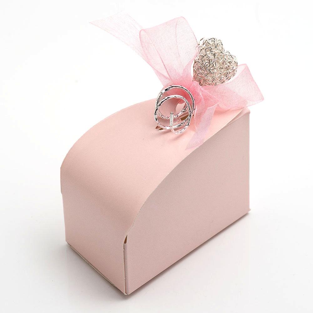 Pink Satin - Domed Cake Box | UK Wedding Favours
