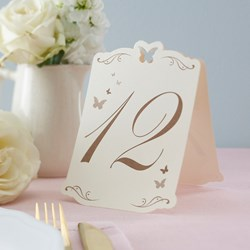 Picture of Butterfly Table Numbers Ivory/Gold - Flutter-by - 1 - 12