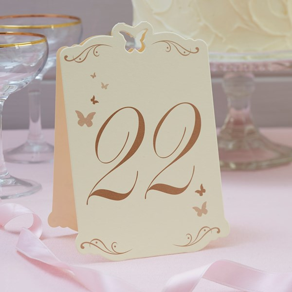 Picture of Butterfly Table Numbers Ivory/Gold - Flutter-by - 13 - 24