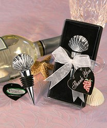 Picture of Shell Design Wine Stopper Favour