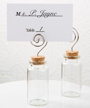 Picture of Perfectly Plain Glass Jar with Place Card Holder