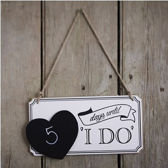 "Picture of ""I Do"" Countdown Sign"