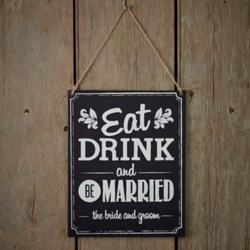 Picture of Eat Drink Be Married Sign